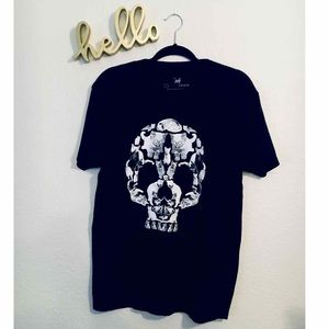 Cat And Skull Graphic Tee